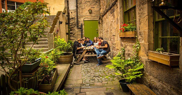 High Street Hostel garden