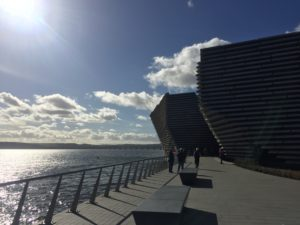 Edinburgh to V&A Dundee in a day. The waterfront building.
