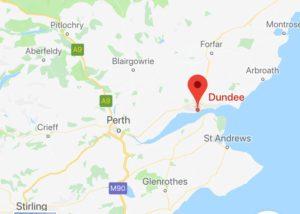 Edinburgh to V&A Dundee map