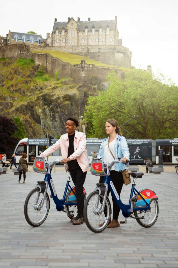 Just Eat Cycles renting bike edinburgh