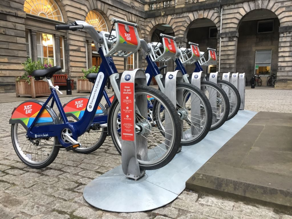 Just Eat Cycles by Sasha Alexander renting bike edinburgh
