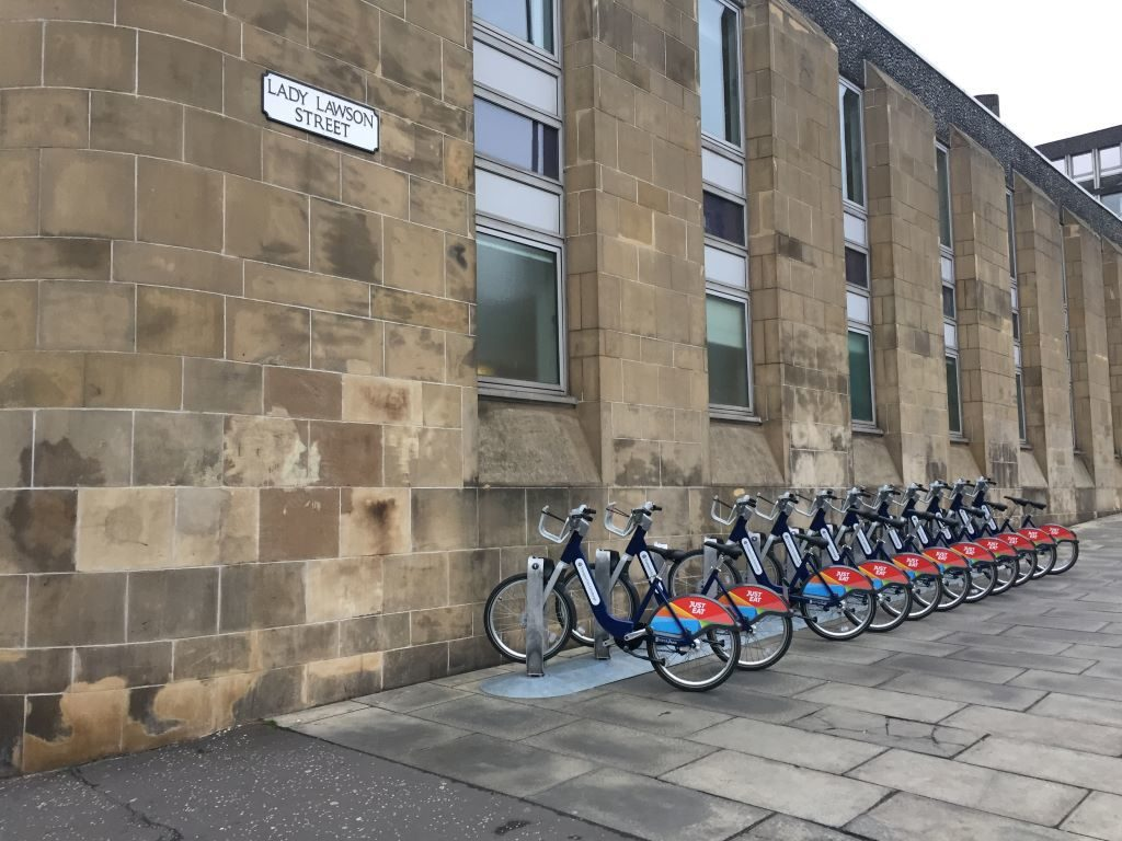 Just Eat Cycles at Lady Lawson renting bike edinburgh