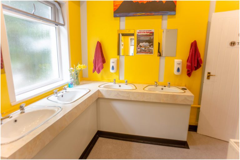 Bathroom of Lochside Hostel