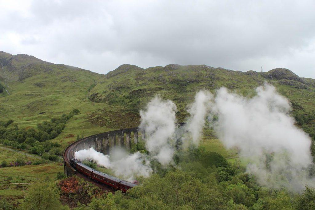 Jacobite Train Crossing Glenfinnan Viaduct