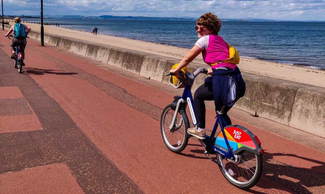 Cycling Edinburgh - Portobello