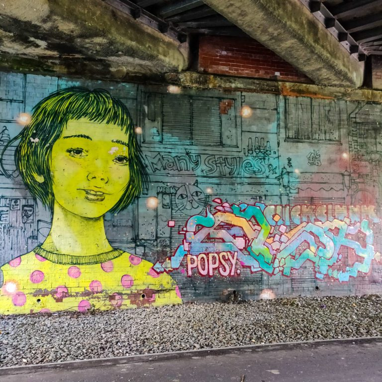 Cycling to Cramond - Street Art - Cycle Edinburgh