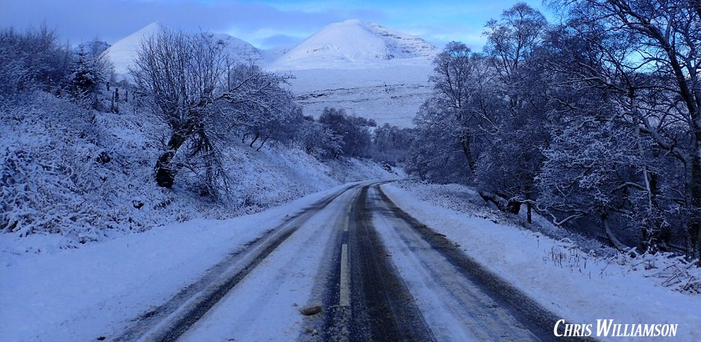 Scottish highlands winter