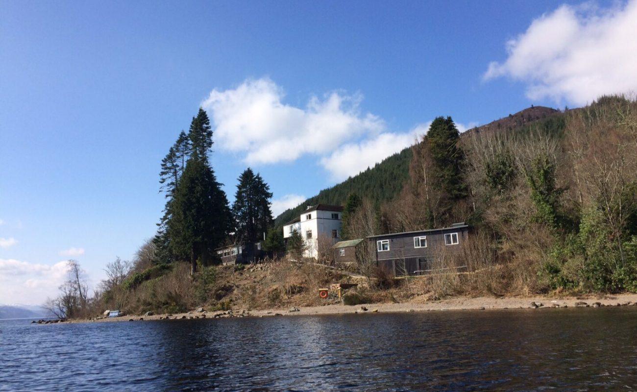 Lochside Hostel from Loch Ness
