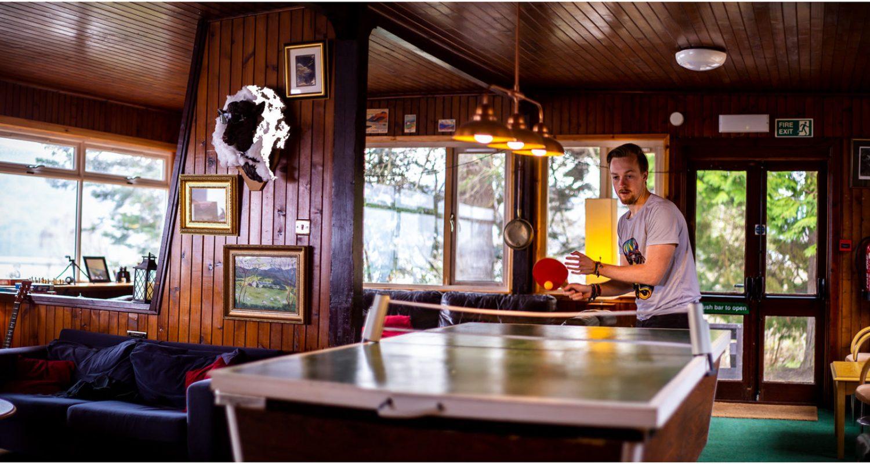 Table Tennis Table of Lochside Hostel