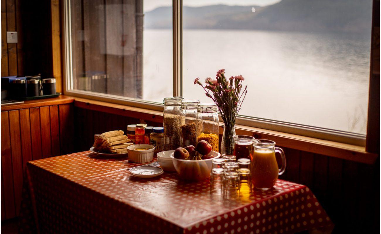 Breakfast at Lochside Hostel