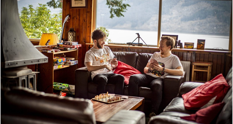 Lounge of Lochside Hostel