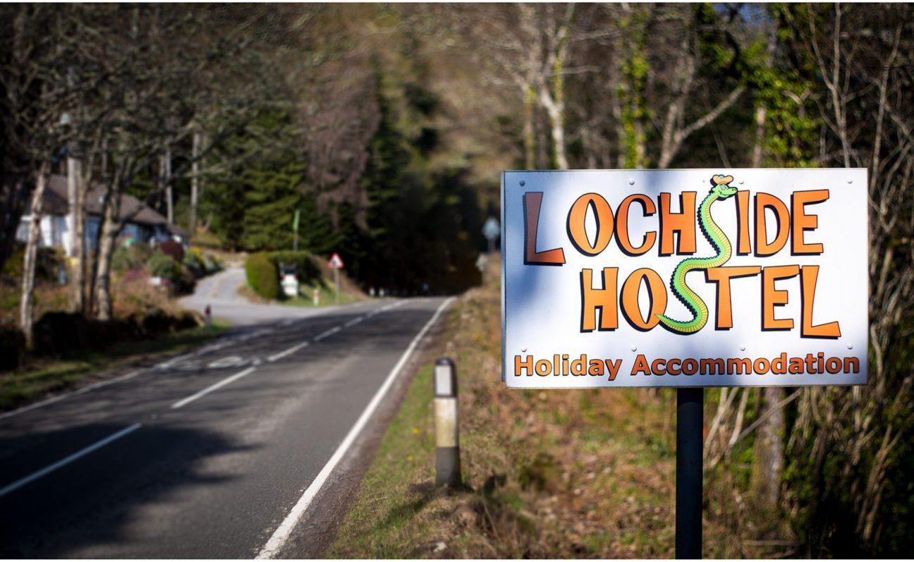 Lochside Hostel Sign