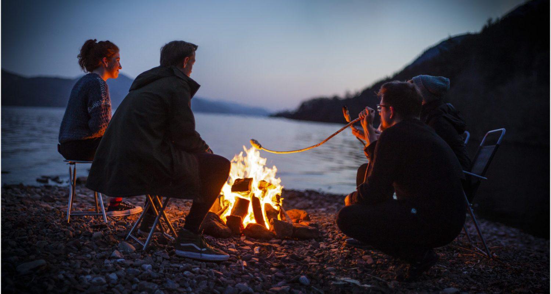 Bonfire at Lochside Hostel