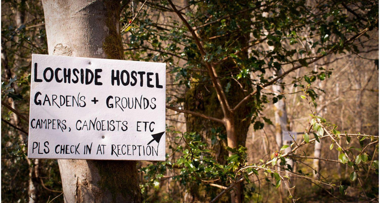 Sign at Lochside Hostel