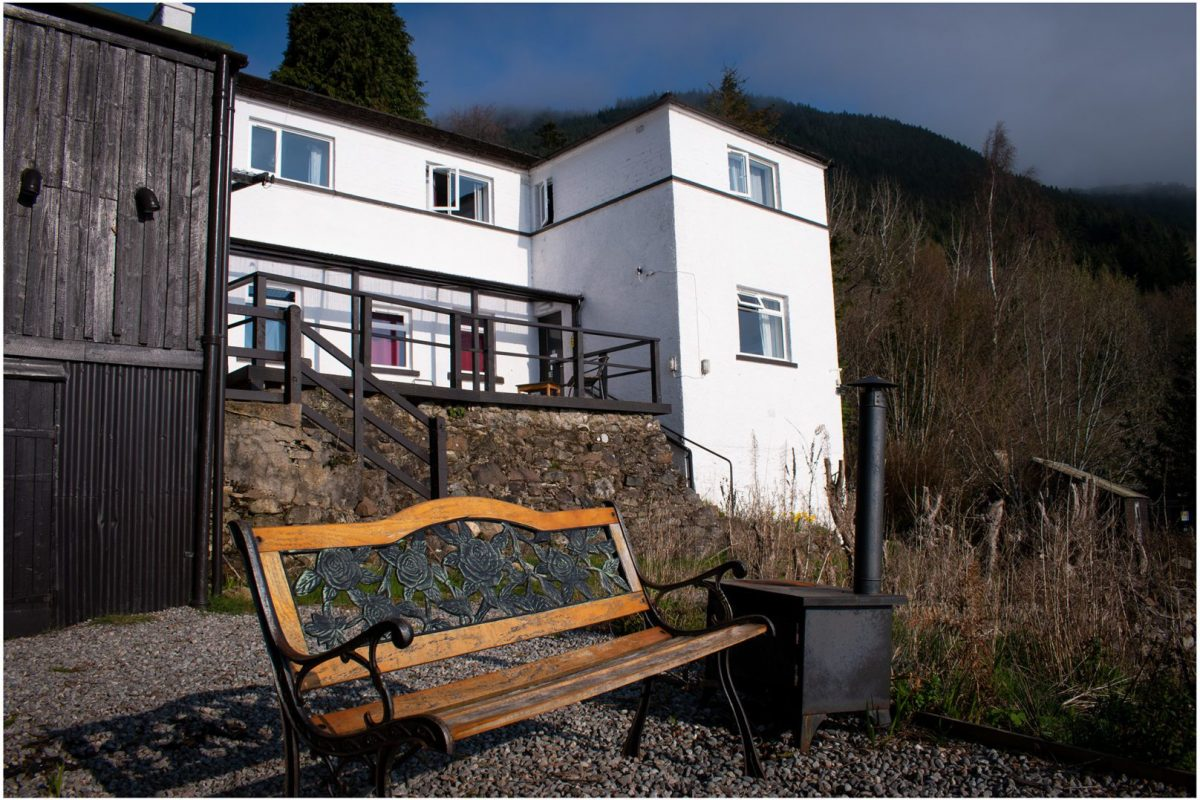 Seat at Lochside Hostel